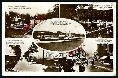 Swansea - Multi View Real Photo Postcard Rp <56