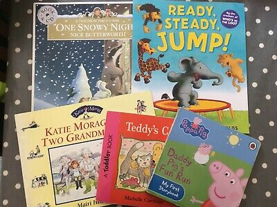 Pre-School Toddler 5 x Book Bundle Teddy's Cat Peppa Pig  Home Learning Reading