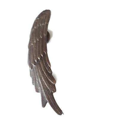 "used small ANGEL WINGS 9.1/2 "" hollow soild brass SILVER Plated door pull"