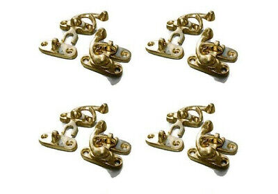 8 Nice tiny small box Latch catch solid brass POLISHED 3 cm doors trinket