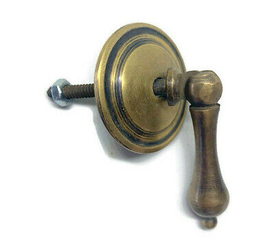 5 small knob pulls handles brass door vintage antique old style drops knob 5cm B