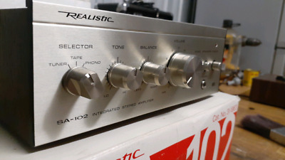Realistic sa102 & tm102 amplifier and tuner