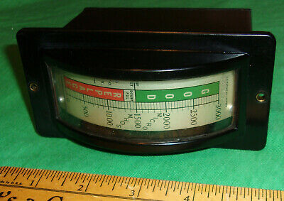 1938 Vintage Hickok AC 51 Tube Tester METER ONLY Working! Very Clean! L@@K!