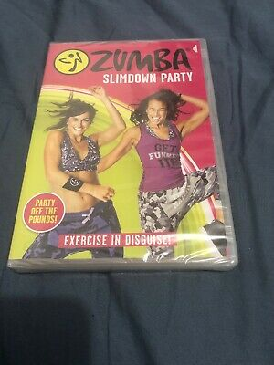 Zumba Slimdown Party- Dvd- Region 2 New/Sealed