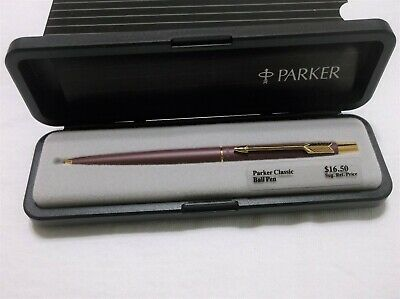 Parker Classic Burgundy & Gold Ballpoint Pen / New In Box / Made In Usa / 68032