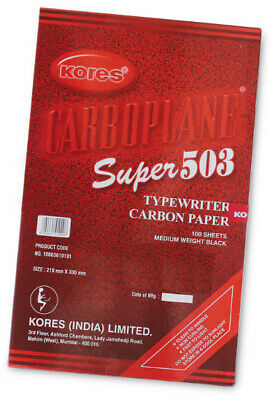 RED 100 X A4 CARBON PAPER SHEETS HAND COPY