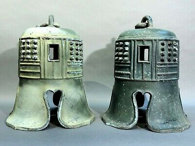 A pair of Japanese Antique Bronze Temple Bell.