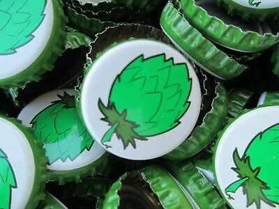 100 -- Hop Leaf -- Soda/Beer bottle Caps (No Dents). Free S&H