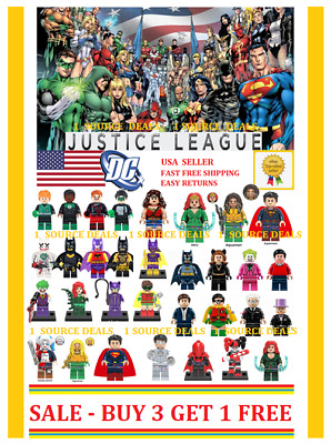 DC Minifigures Fits Lego Justice League Batman Superman Aquaman Teen Titans