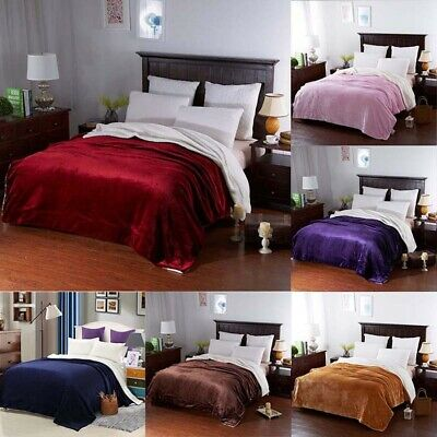 Blanket Throw Lamb Velvet Thicken Fleece Warm Soft Sofa Bedding Double King Size