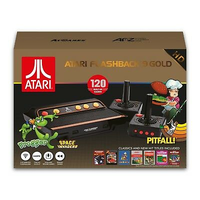 Atari Flashback 9 Gold 720p HD  Classic Game Console w 120 Games & 2 Controllers