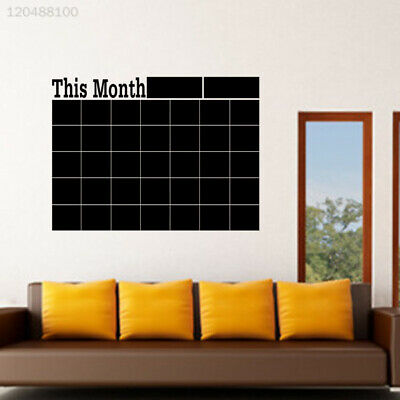 E19D Wall Sticker Decor Home & Garden Decoration DIY Blackboard Calendar Mural
