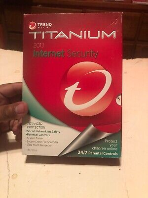 Trend Micro Titanium Internet Security 2013 1 PC/1 Year  W/Advanced Protection