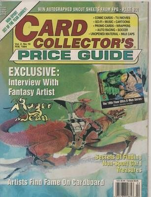 Card Collectors Price Guide  #10 Feburary1994 USA Very Fine condition