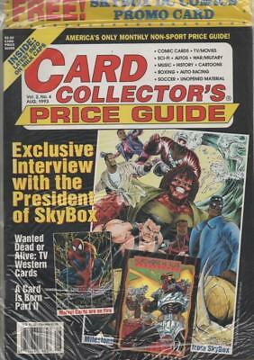 Card Collectors Price Guide  #4 Aug 1993 USA Inc  free Skybox DC card
