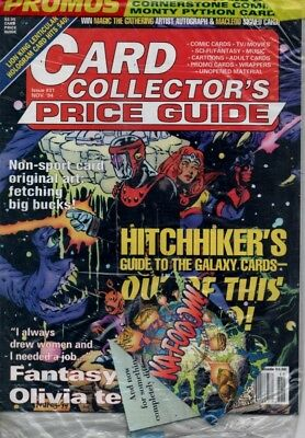 Card Collectors Price Guide  #34 Nov 1994 USA Inc 2 free cards & uncut sheet