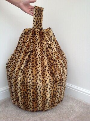 Cover only Bean Bag Faux Fur 3 Cubic Ft Size Animal Print Children Baby Cheetah