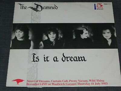 "THE DAMNED Is It A Dream 12"" Single 1985 GRIMT3"