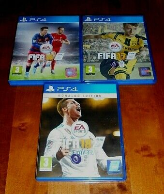 Sony Playstation Ps4 Fifa 16 17 18 Games In Near Mint Condition + Free Uk Post