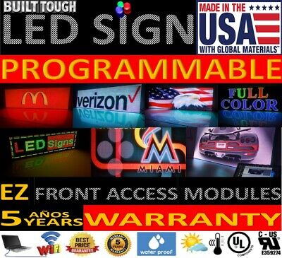 """LED Sign Outdoor Full Color ONE SIDED LED Programmable Message 50""""x50"""" Signs"""