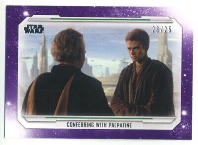2019 Topps Star Wars Skywalker Saga- Base Parallel- #14- PURPLE- 23/25