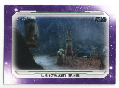2019 Topps Star Wars Skywalker Saga- Base Parallel- #62- PURPLE- 02/25