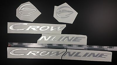 "CROWNLINE boat Emblem 20"" Epoxy Stickers Resistant to mechanical shocks"