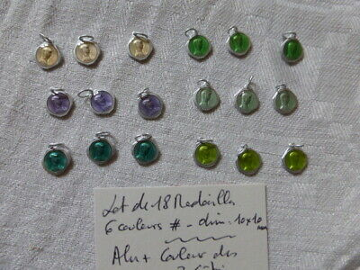 lot  18  medaille Vierge Marie Mary Collection  alu  6 couleurs enamel creation