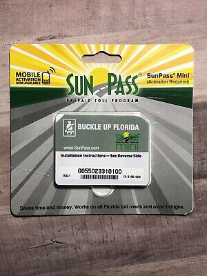 SUNPASS MINI STICKER Pre-Paid Toll Program For Florida only