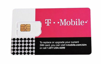 T-Mobile 4G LTE 3 in 1 Triple Cut Sim Card - activate by 2019/10/20