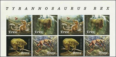 "2019US POSTAGE STAMP#5410-3 Tyrannosaurus Rex""T.REX"" header block(8pc) -Mint NH"