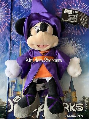 "Disney Parks Exclusive Minnie Mouse as Witch 12"" Plush Halloween 2019 New"