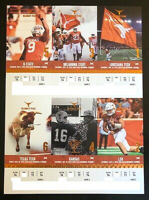 2019 Texas Longhorns Football Collectible Ticket Stub - Choose Any Home Game