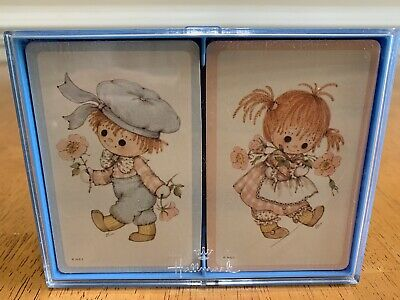 Vintage Hallmark Buttons And Bo Double Deck Bridge Playing Cards New, Sealed!