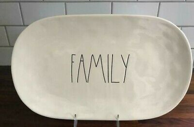 Rae Dunn Artisan Collection by Magenta  FAMILY LL Oval Platter HTF Thanksgiving
