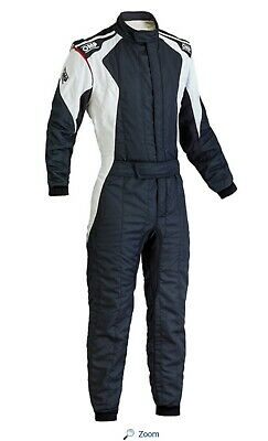 Omp race suit .. plus an Omp waterproof  see through  over coat.