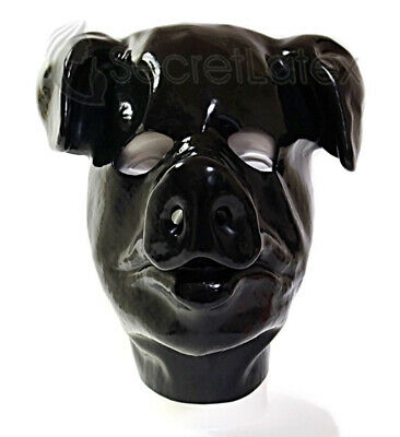OPEN FACE ANATOMICAL SHAPE LATEX HOOD WITH ZIPPER AND HAIRGUARD FOR CATSUIT