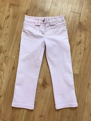 Girls Pink Jasper Conran Jeans 3/4 Capri Cropped Trousers Age 7 Years