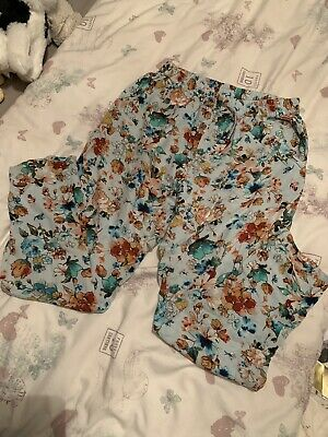 Next Floral Trousers Age 10