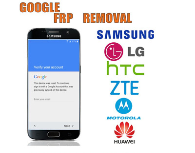 Google Account FRP Removal Bypass For LG SAMSUNG LENOVO ONEPLUS HTC MOTOROLA