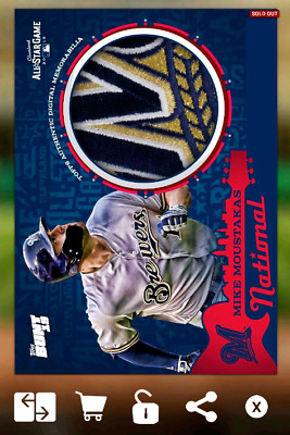 Mike Moustakas-2019 All Star Game-Relic-Base-Topps Bunt 19 Digital