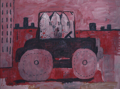 Art HD Print Oil Famous Painting Philip Guston City Limits Wall Decor