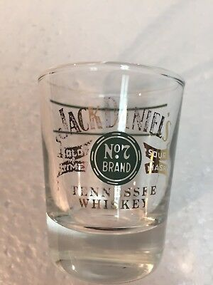 Jack Daniels Old No 7 Tennessee Whiskey Collectable Shot Glass Man Cave!!!
