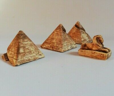 Unique Small Stoned Carved Nice Statues of Egyptian pyramids And Sphinx Figurine