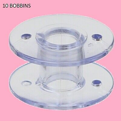 Bobbins Class 15 For Brother Husqvarna Singer 11.5Mm  Pack Of 10 Plastic Clear