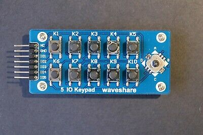 5 IO Keypad Accessory Board Matrix Button Module Controlling Joystick & Buttons