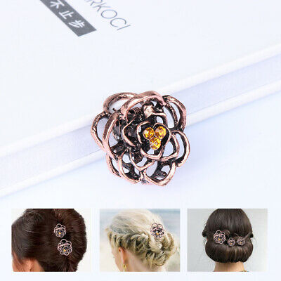 Clamp Retro   Crystal Hair Accessories Hair clips  Rose Hair Claw Rhinestone