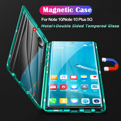 360° Magnetic Adsorption Metal Glass Case Cover For Samsung Galaxy Note 10+ S10