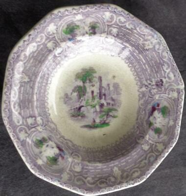 Fabulous Antique Small Size Side Dish - GREAT TRANSFER PATTERN - LOVELY COLOR