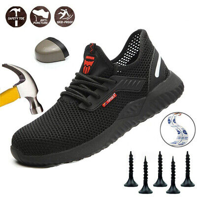 UK Safety Shoes for Mens Womens Steel Toe Trainers Lightweight Work Shoes UK3-13
